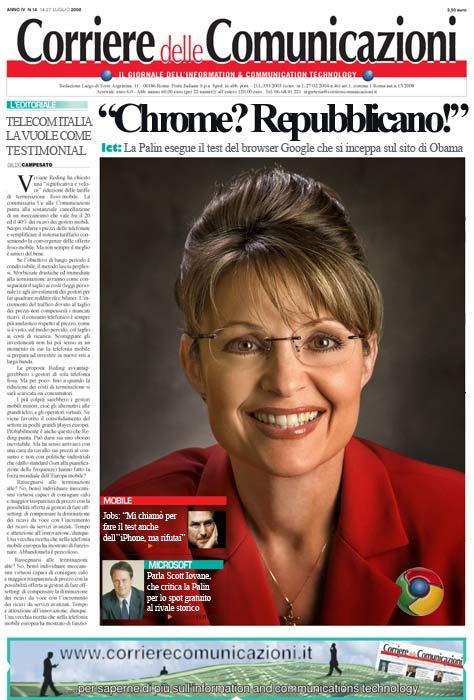 Corriere delle Comunicazioni - Fake - Sarah Palin