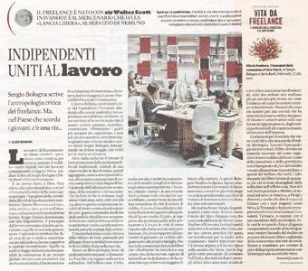 Recensione di Aldo Bonomi al libro Vita da freelance (Dario Banfi, Sergio Bologna)